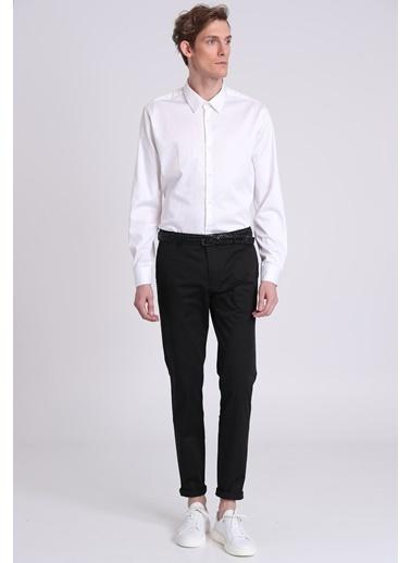Lufian Uzun Kollu Slim Fit Gömlek Beyaz